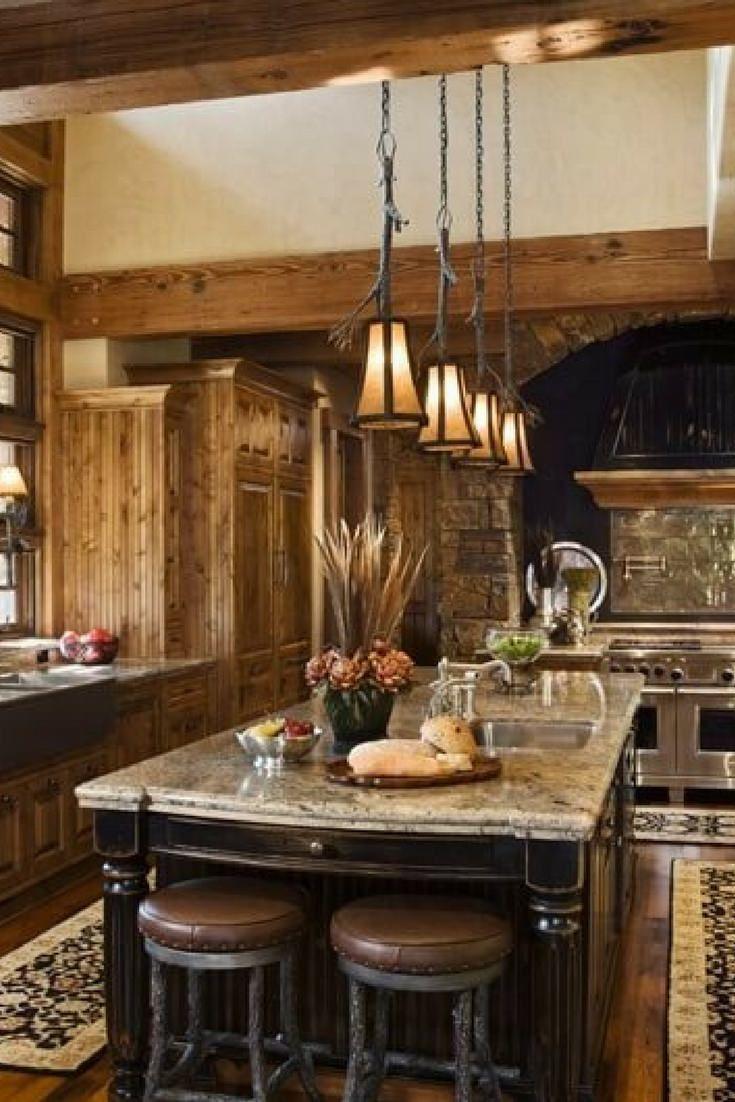 31 custom luxury kitchen designs some 100k plus rustic kitchen rustic kitchen decor on kitchen decor themes rustic id=82098