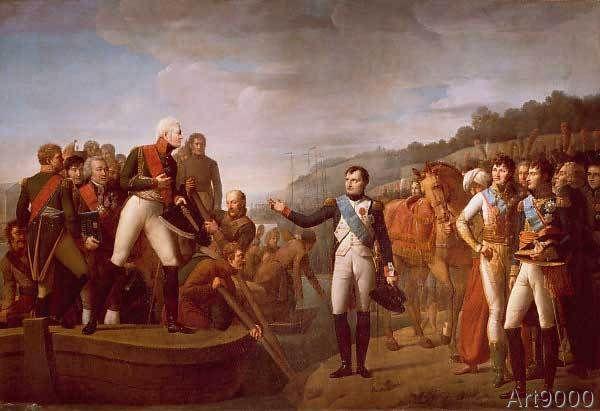 Gioacchino Giuseppe Serangeli - Adieux de Napoléon et d'Alexandre Ier après l'entrevue de Tilsitt, 9 juillet 1807