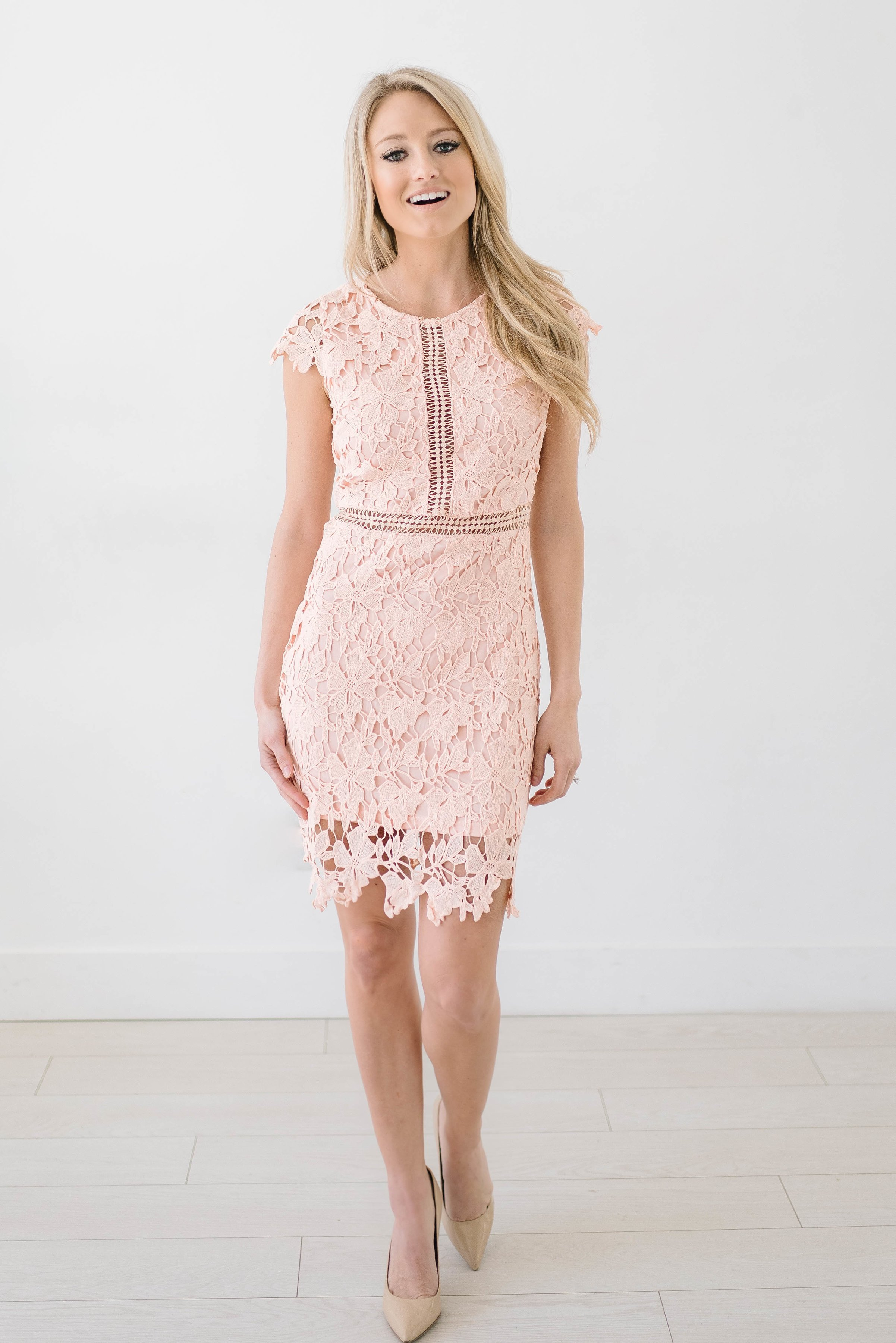 Pink see through lace dress  Alicia Dress  Womenus Fashion Inspo  Pinterest  Products