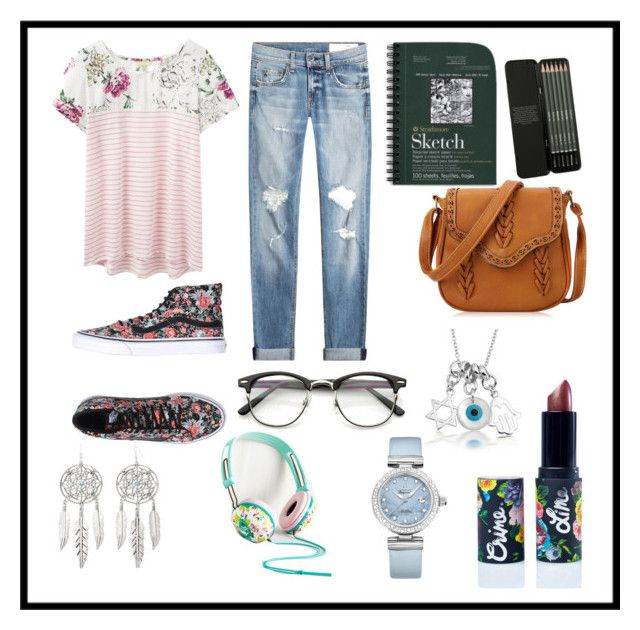"""""""Casual Artist"""" by alexandriacaison on Polyvore featuring rag & bone, Joules, Vans, Lime Crime, Arizona, Bling Jewelry and OMEGA"""