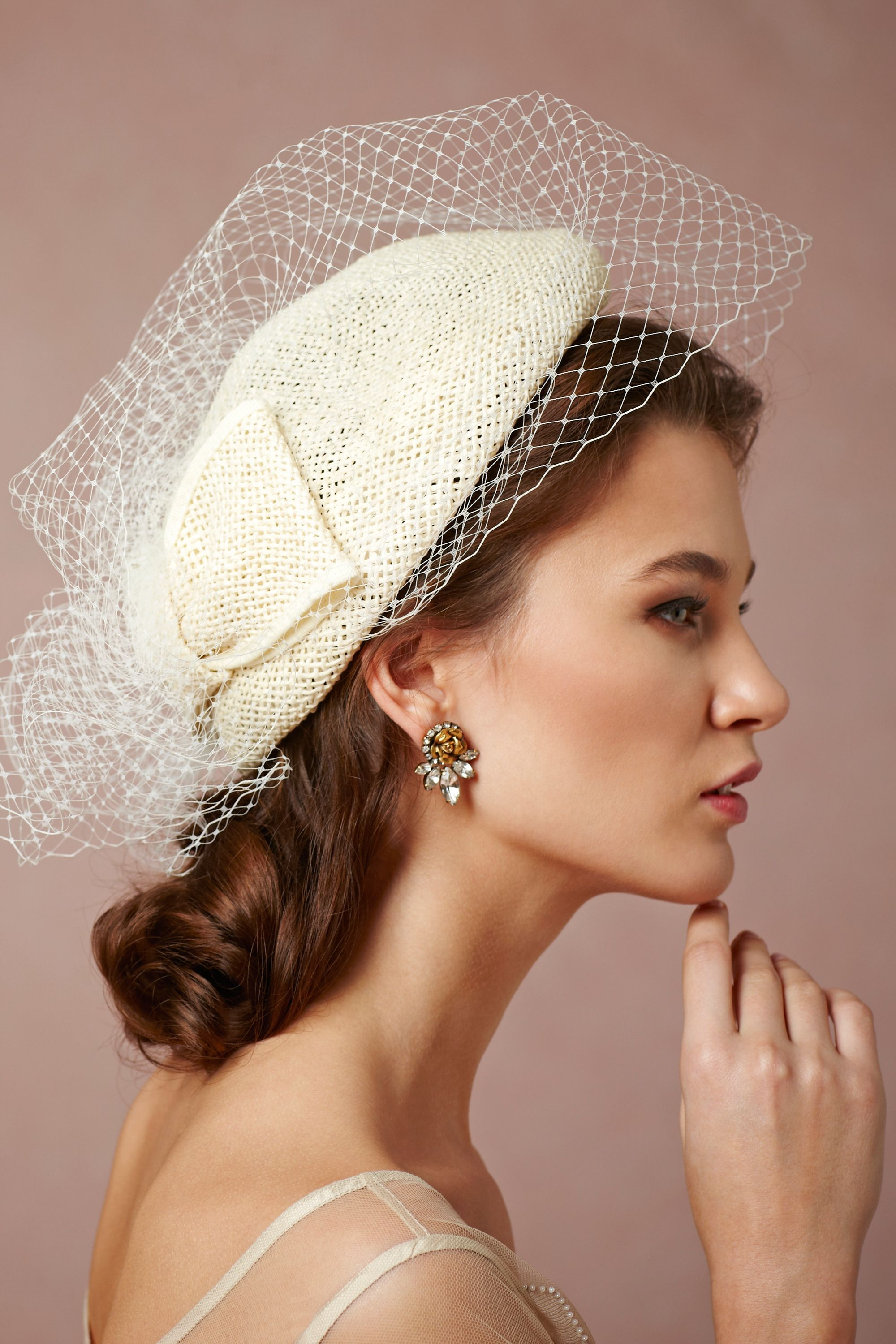 Mad Dash Pillbox Wedding Accessories By Bhldn Loverly Veiled Hats Wedding Hats Pretty Hats