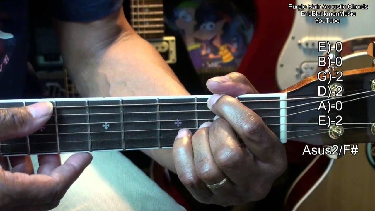 Purple Rain Prince Tribute Easy Acoustic Guitar Chords Tutorial