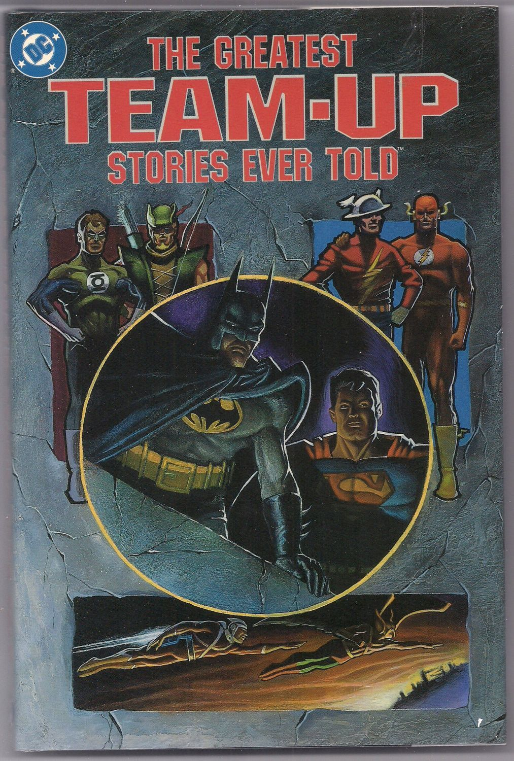DC Comics The Greatest TEAM-UP Stories Ever Told Hardcover 1st Ptinting Like New Batman Superman Atom Flash Justice League Arrow Hawkman
