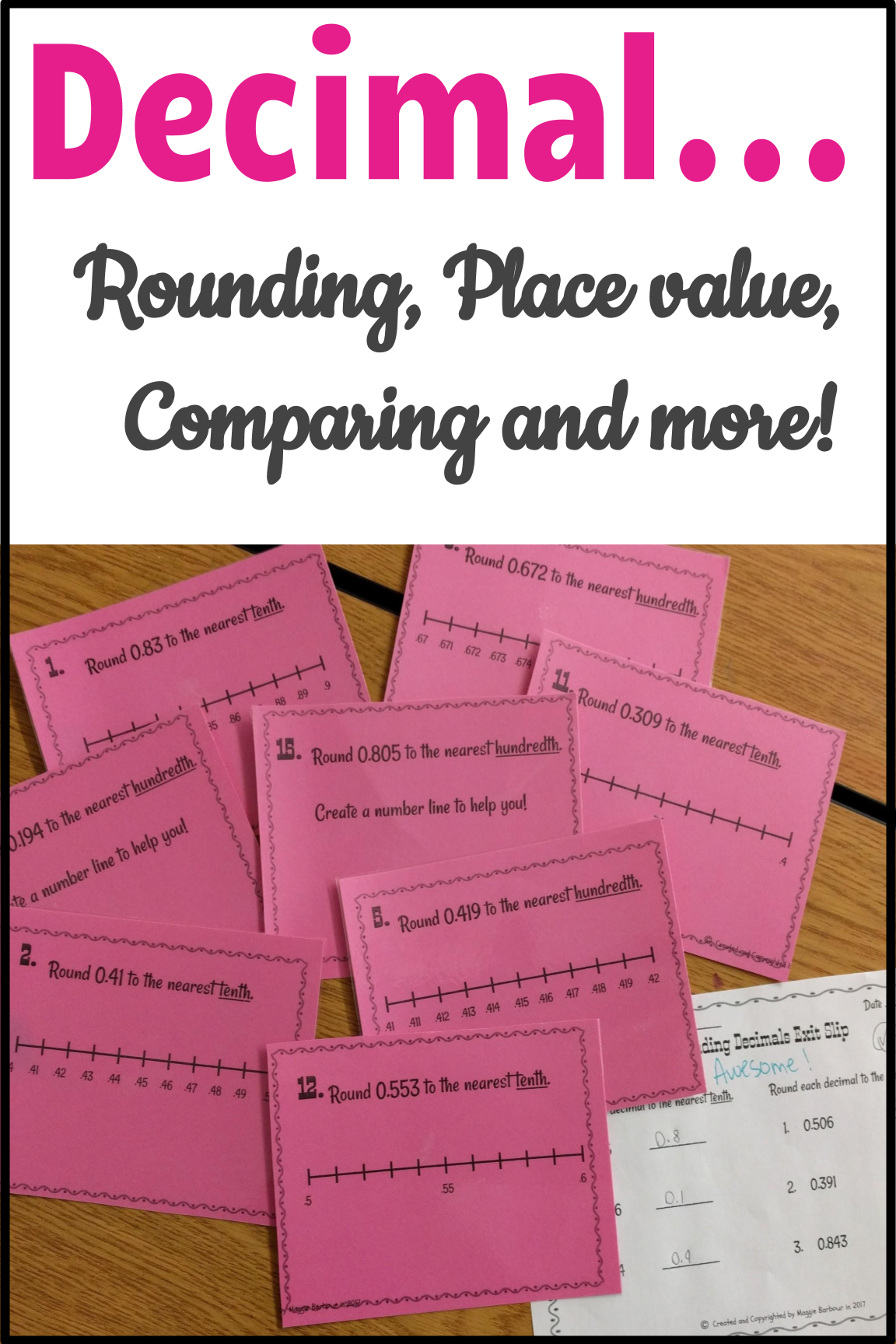Round Compare And Order Decimal Numbers