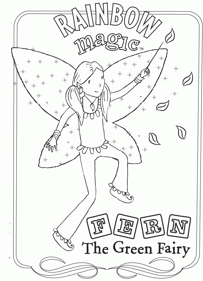 Rainbow Magic Fairies Coloring Pages Coloring Coloring Pages