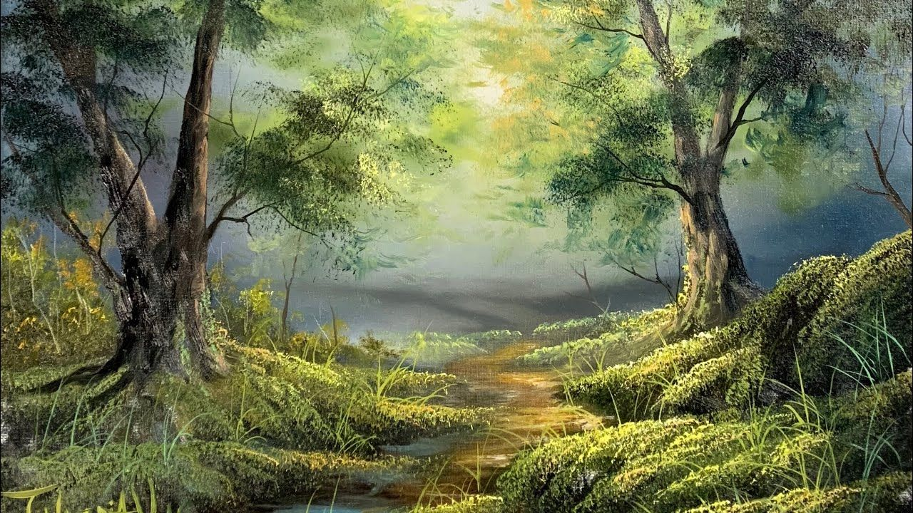Magical Forest Oil Painting Paintings By Justin Youtube Oil Painting Landscape Painting Landscape Paintings