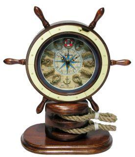 Infinity Instruments Nautical Catalina Ships Wheel W Rope Knot