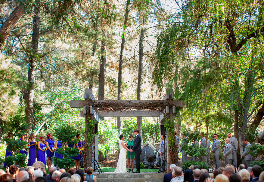 Everything is so beautiful. Magical moment. #Wedding at Calamigos Ranch (http://www.calamigos.com/weddings.html)