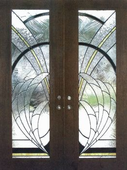 ArtGlassByWells | Custom leaded glass front doors with contemporary ...