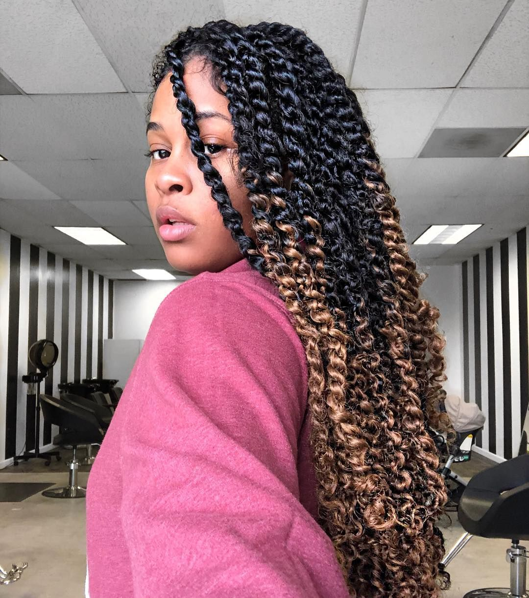 "Rosalia on Instagram: ""Spent my MLK Day Protective Stylin' ❤️ This Style is Available to book on my Website under ""Medium Passion Twists"" ✨ Visit RosaliaHair.Com…"" #passiontwistshairstyle"
