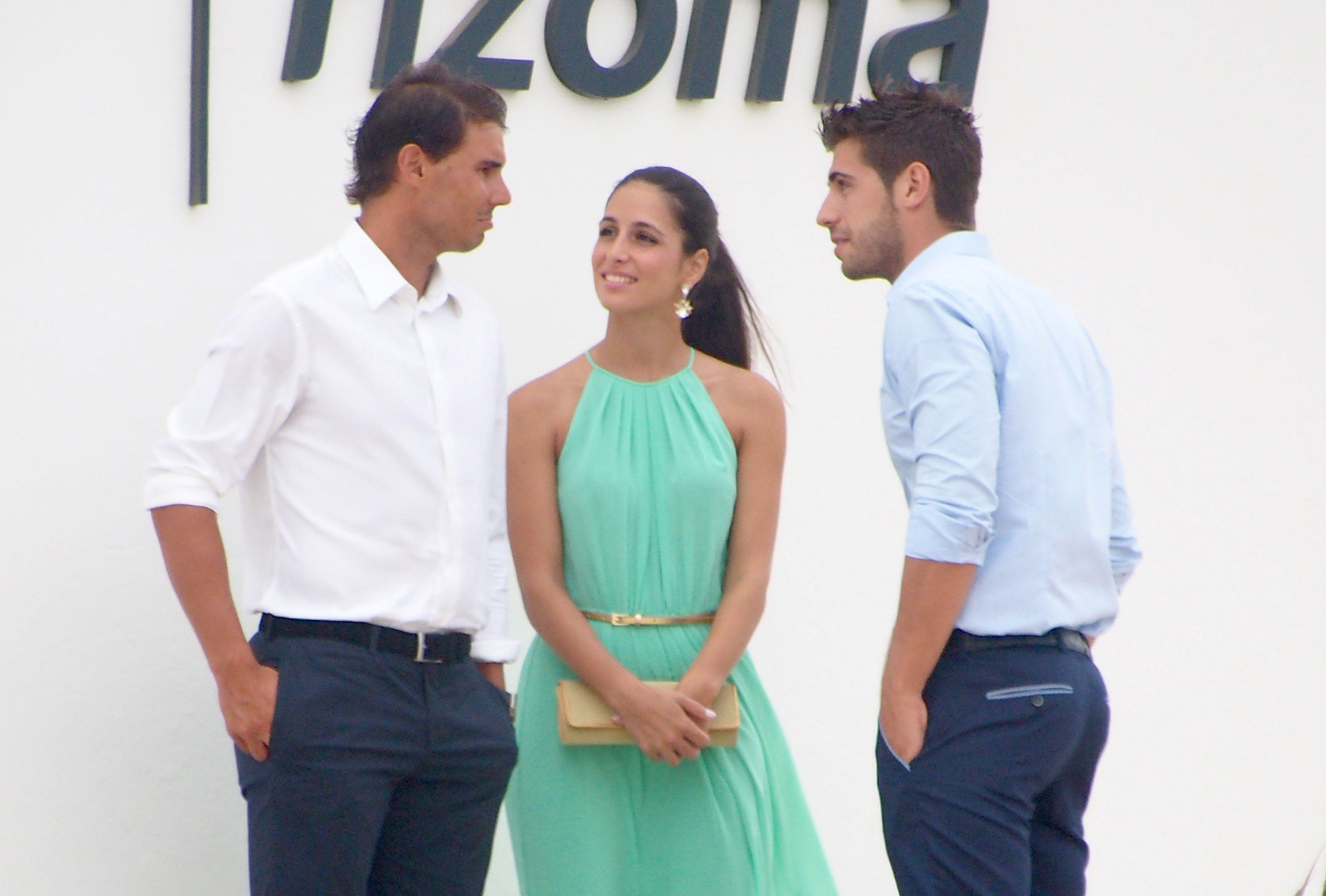 Rafael Nadal and his girlfriend Maria Francisca Perello at Friends' Wedding