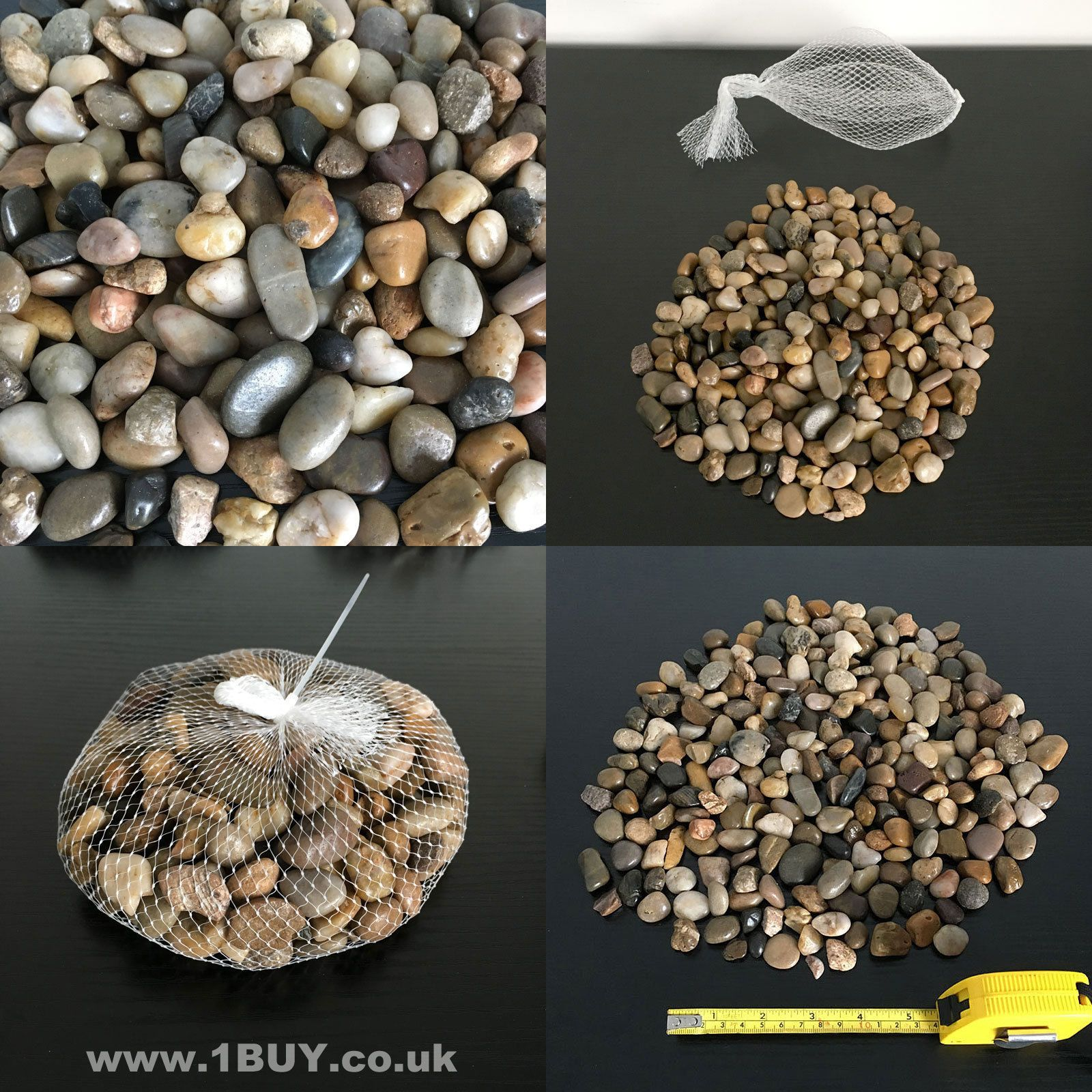 Natural Colour Browns Decorative Stones Brand New In A Net
