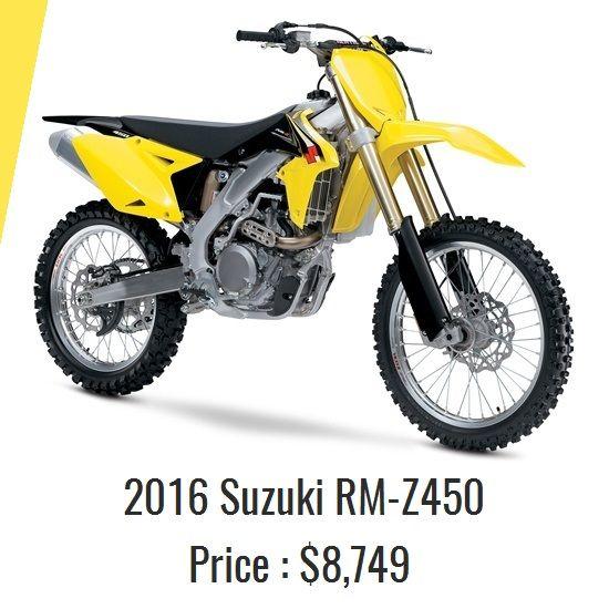 2016 Suzuki Rm Z450 Base 8 749 Engine 449cc 4 Stroke Liquid