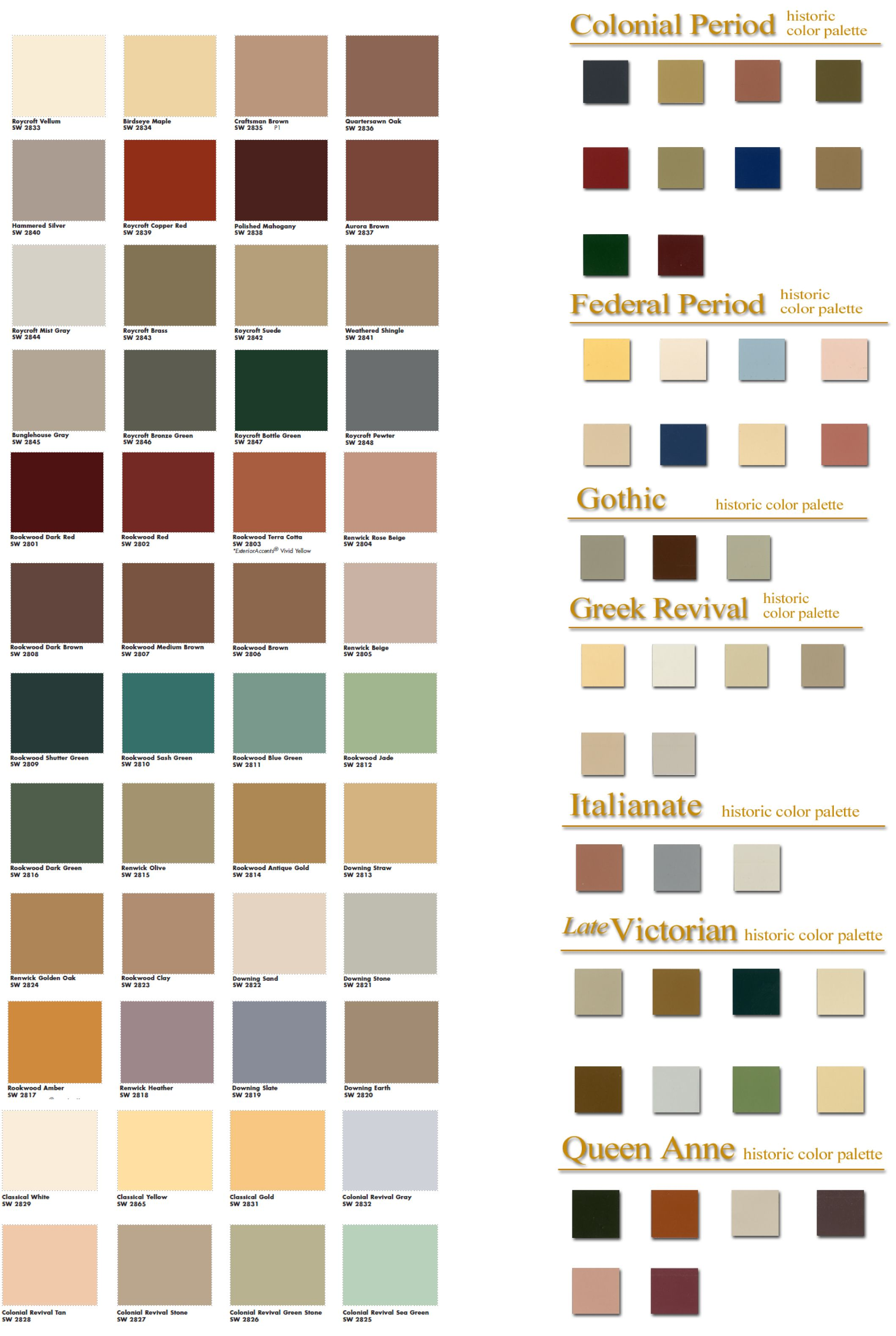 Historiccolorpalette Jpg 2119 3160 Fayetteville Ny Periods