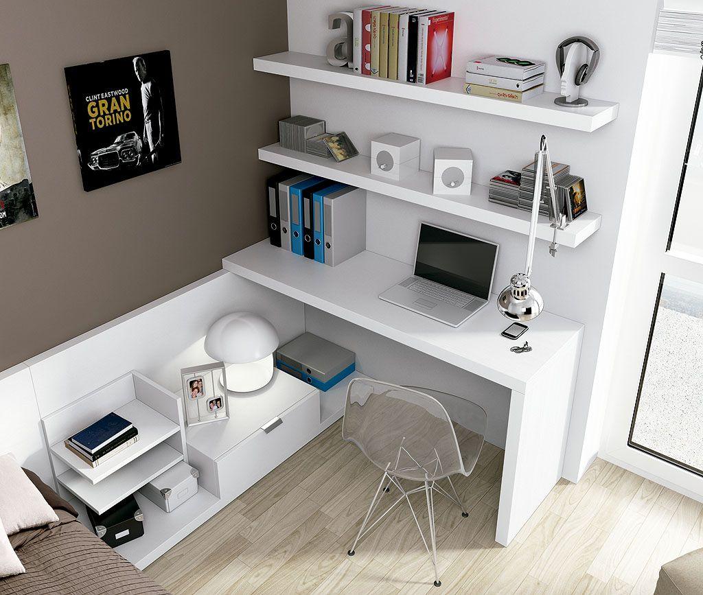 Escritorio espacio de trabajo pinterest escritorios for Mesas de estudio para espacios pequenos