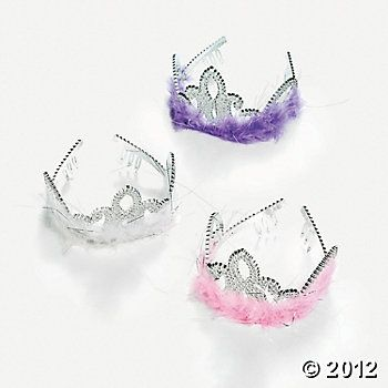Fuzzy Flirty Tiaras for guests
