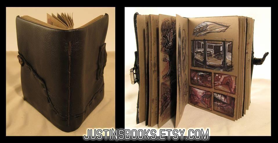 Artwork in Leatherbound Journal
