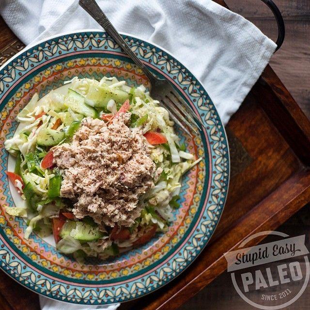 Lemon Tahini Tuna Salad