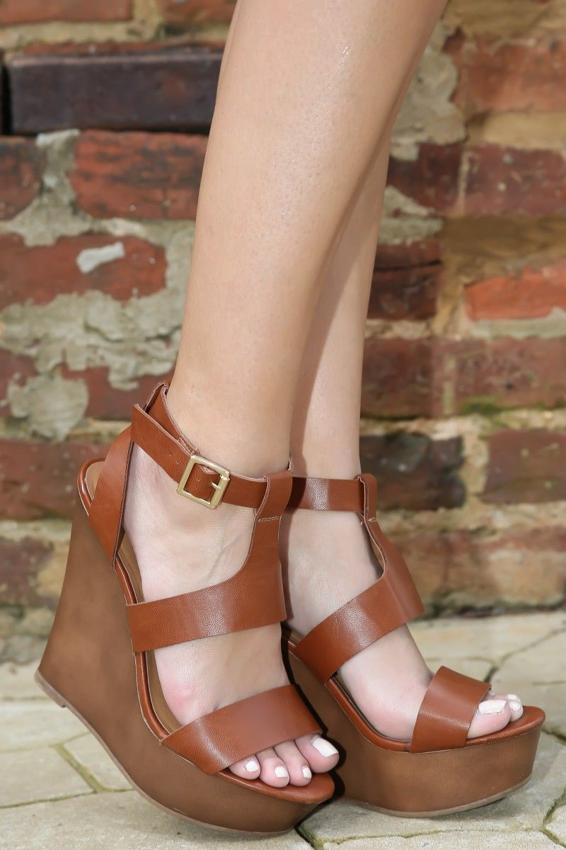 Step Above The Rest Wedge-Cognac - New Arrivals | The Red Dress Boutique