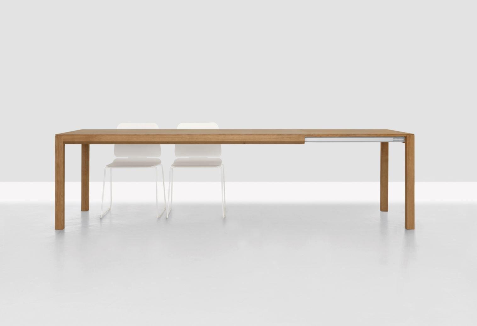 ausziehbarer rechteckiger tisch aus holz domino zoom by zeitraum