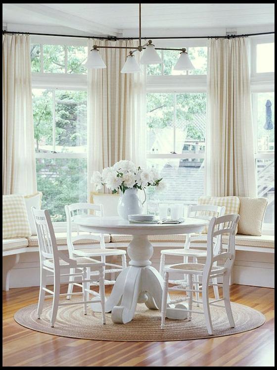 Best Bay Window Treatments Measuring Guide Farmhouse Bay Window Treatments Farmhousebaywindow In 2021 Luxury Dining Room Bay Window Treatments Bay Window Design