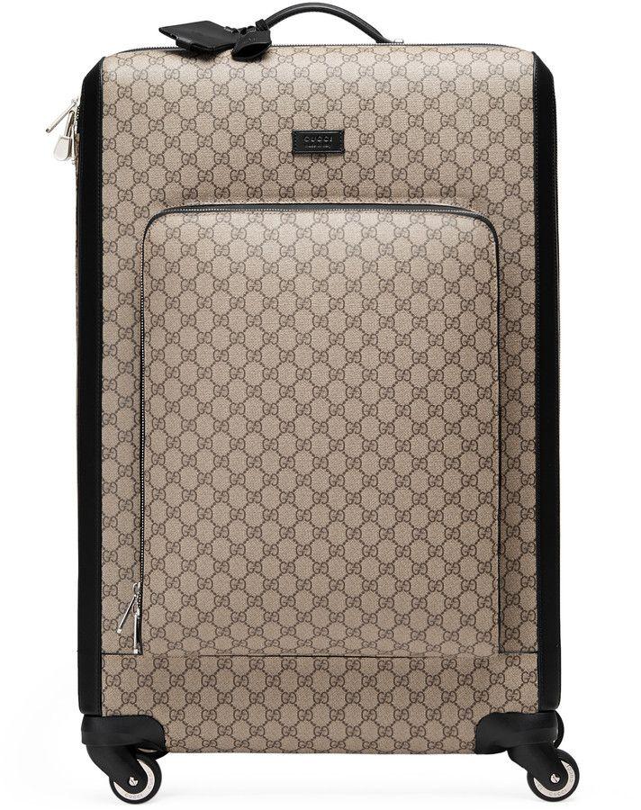 fd97fd61b Gucci - four wheel carry-on suitcase 293909KGDHG9643 | Shopaholics ...