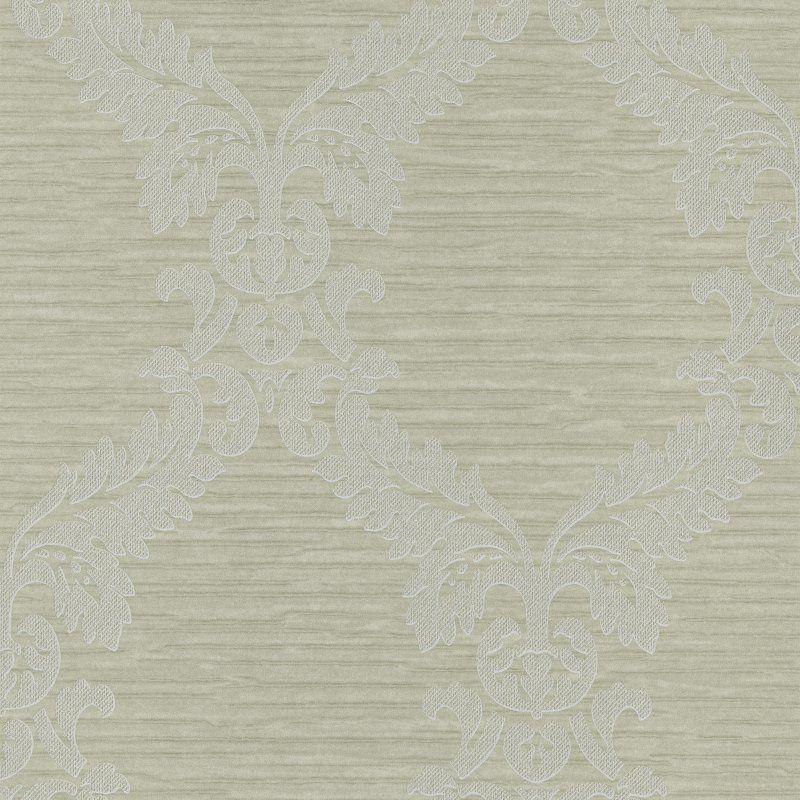 Kenneth James Siri Damask Crepe Wallpaper Light Green - 295-66512