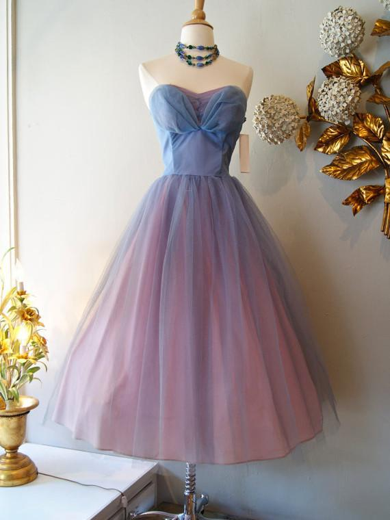 Pink Ombre Prom Dresses 2018