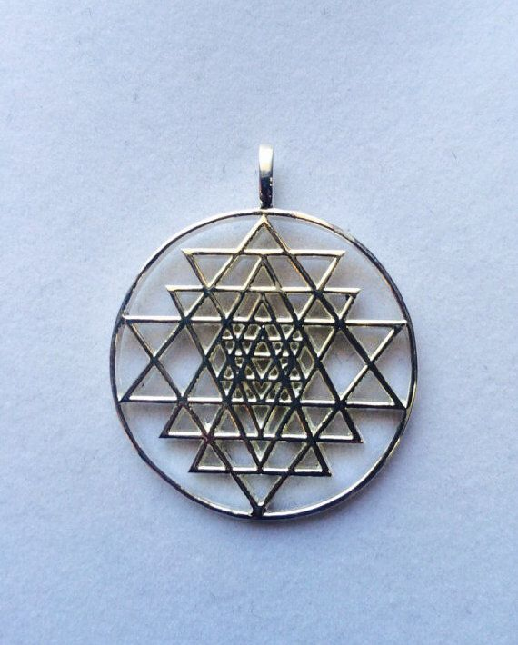 Sterling silver sri yantra pendant sacred geometry sri yantra sterling silver sri yantra pendant sacred geometry wooknook13 aloadofball Choice Image