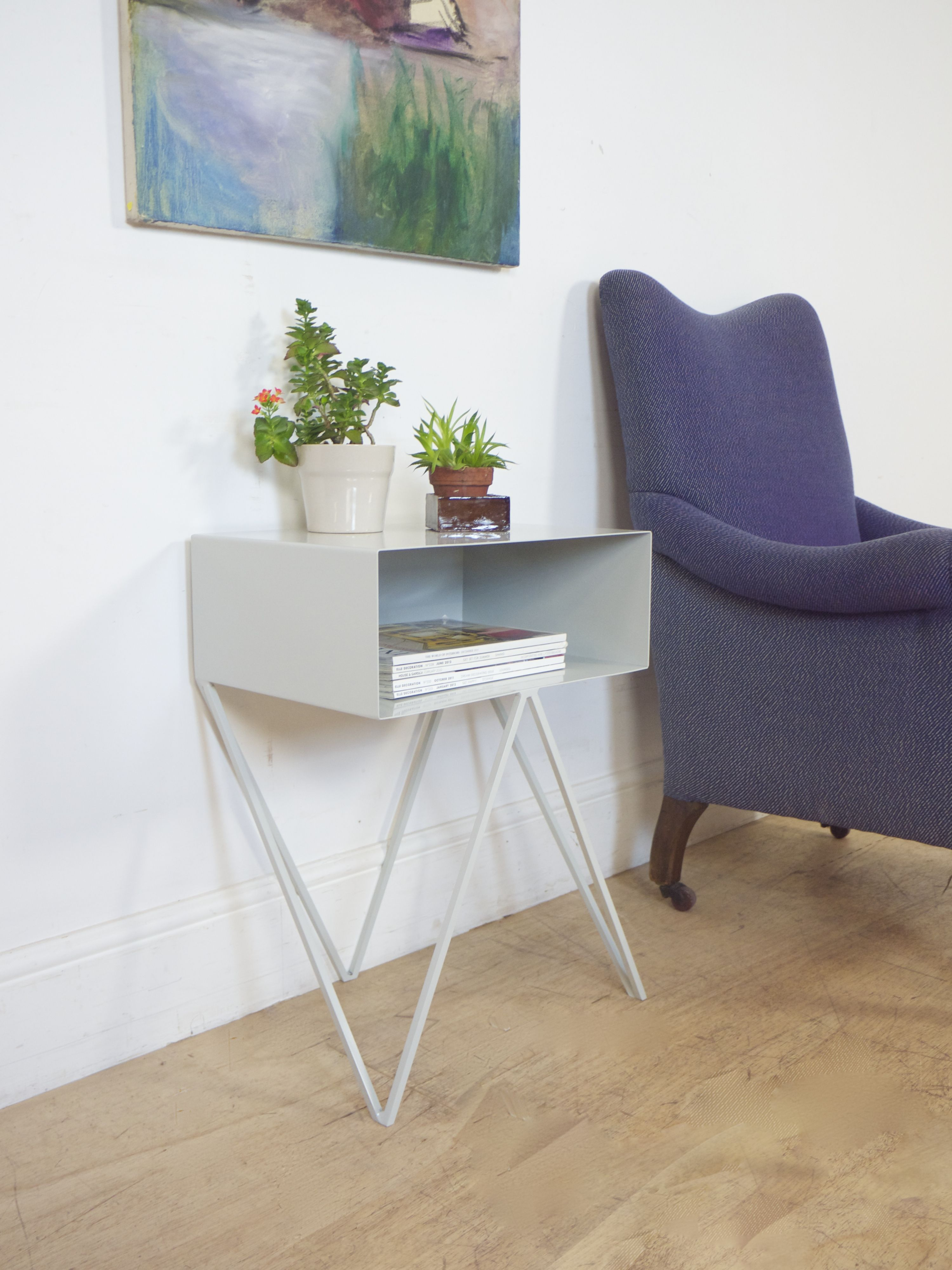 Pale Grey Robot Side Table Furniture Sideboard Amp Ect