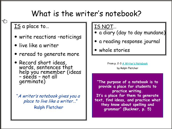Writers Workshop  Writers Notebook Dos And DonTs And Writers
