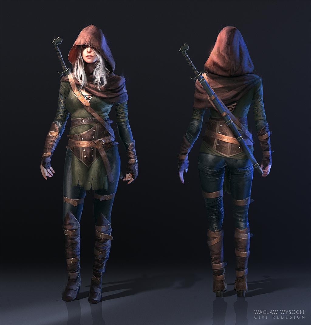 The Witcher 3: Ciri FanArt By Wwysocki Female Assassin