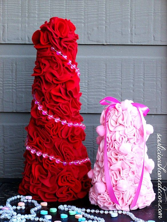 How To Make Felt Trees for  Valentines Tutorial
