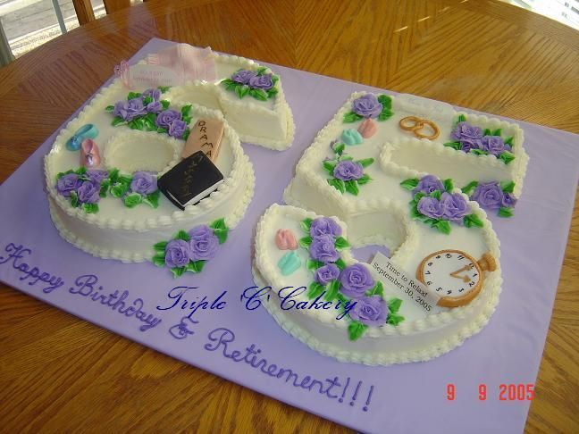 Terrific Combo 65Th Birthday And Retirement Cake Retirement Cakes 65 Funny Birthday Cards Online Benoljebrpdamsfinfo