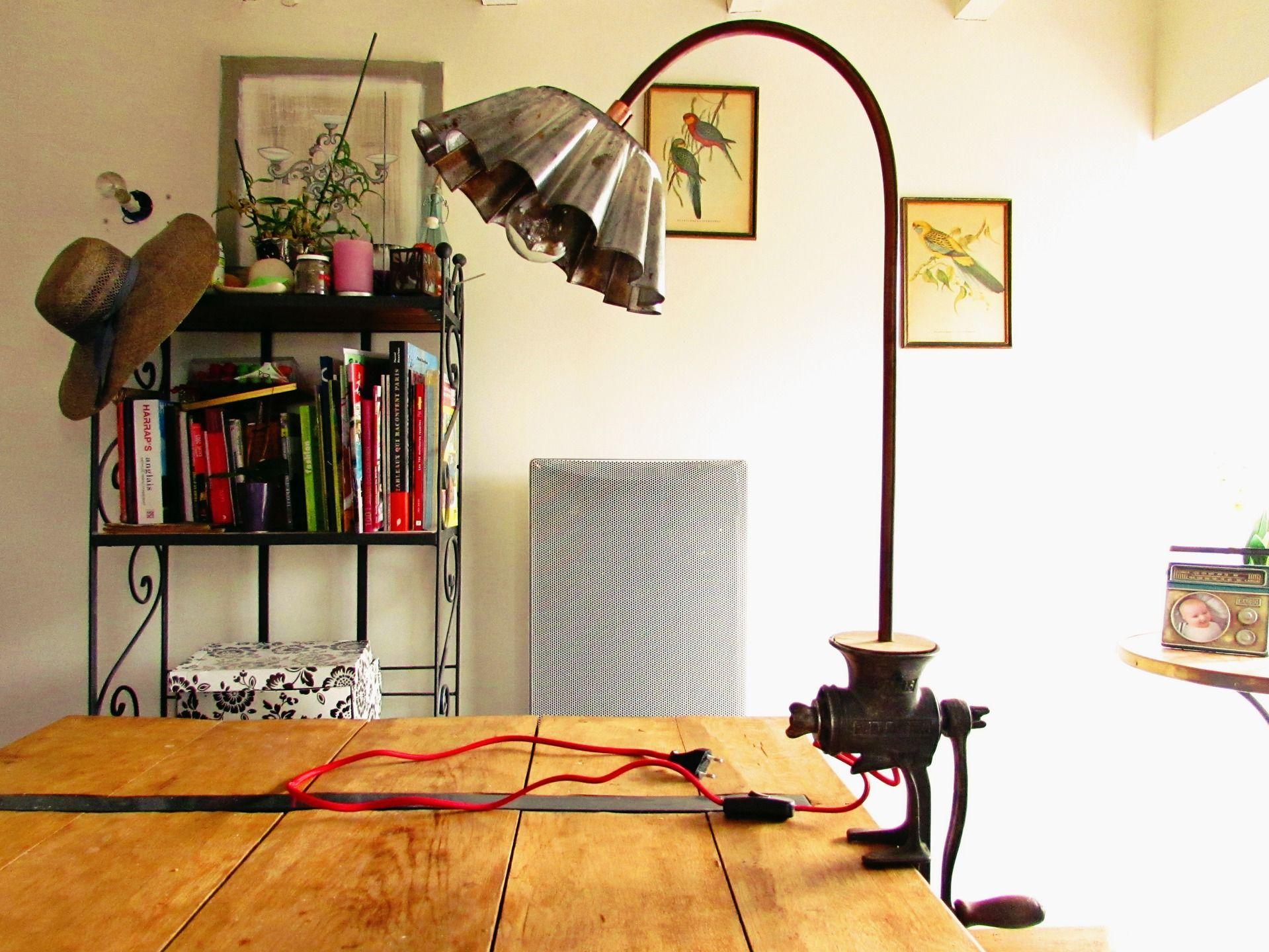 lampe vintage poser fixer avec accroche serre joint. Black Bedroom Furniture Sets. Home Design Ideas