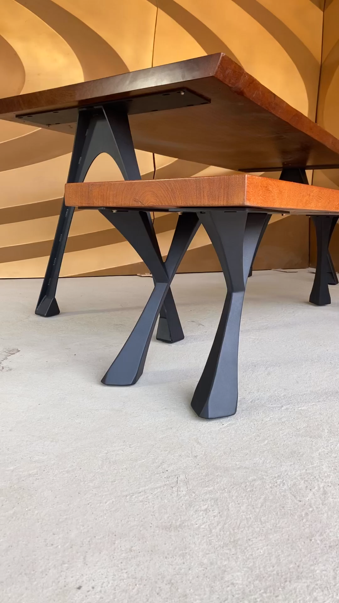 Table Legs & Metal Table Base for live edge top, r