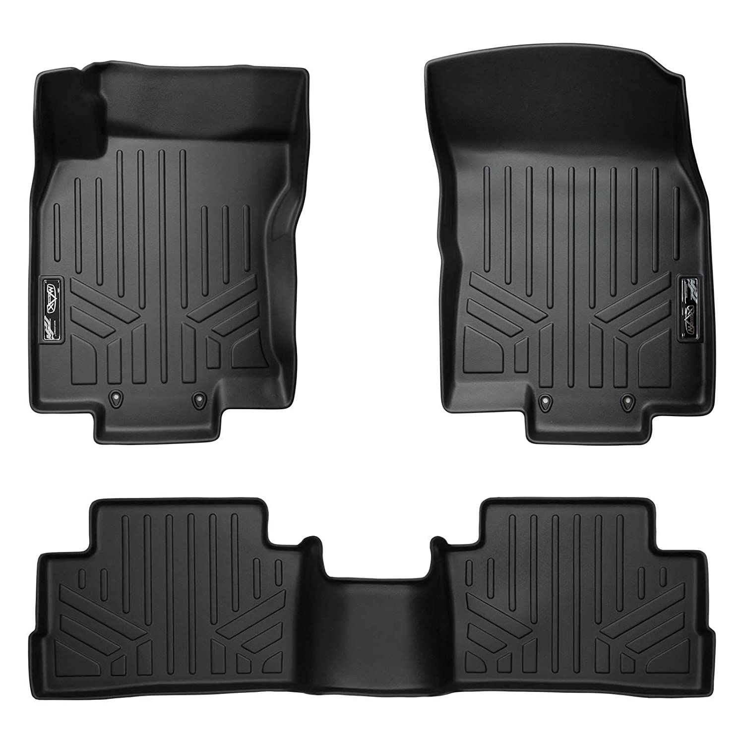 SMARTLINER Floor Mats 2 Row Liner Set Black for 20172018