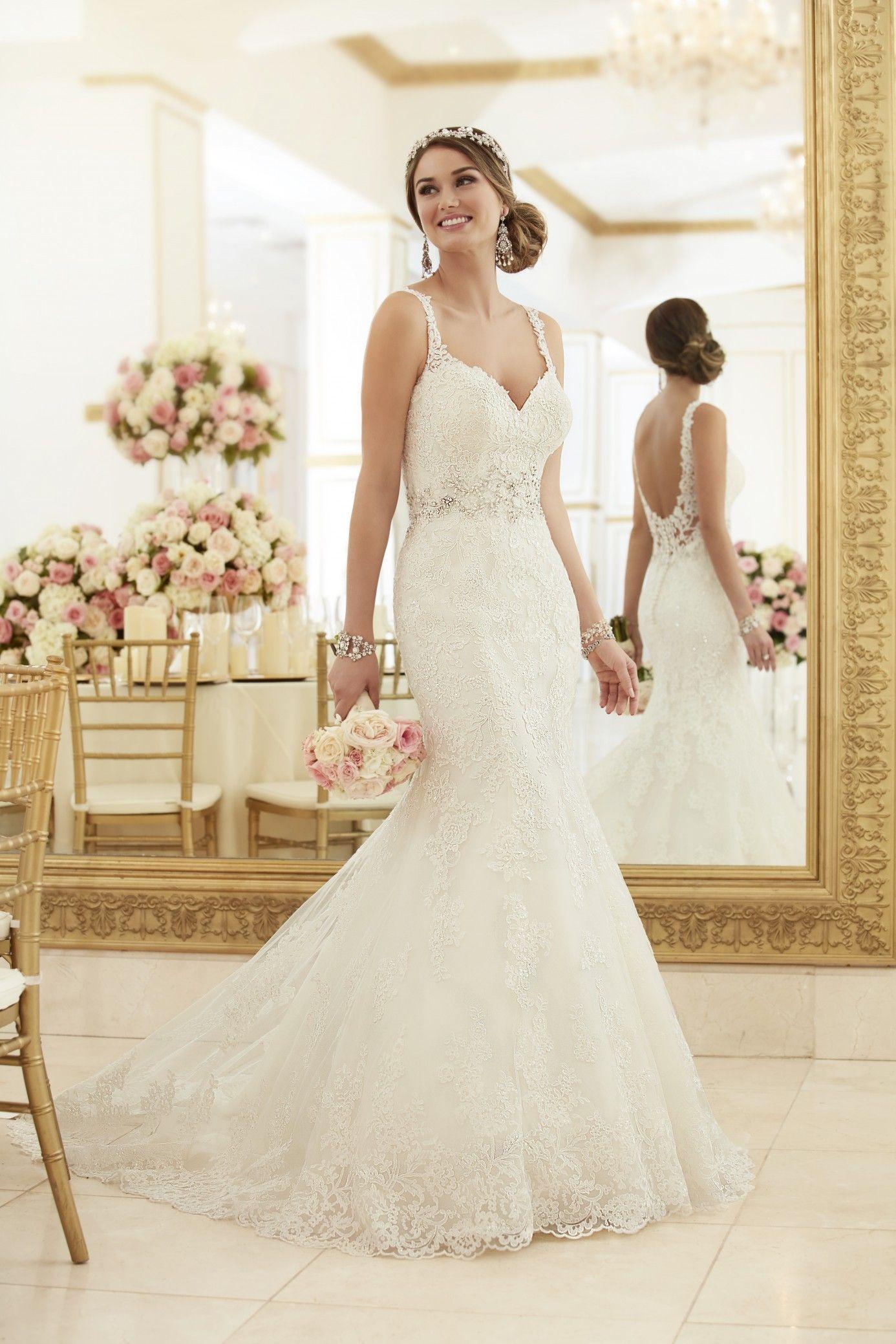 Lace spaghetti strap wedding dress  Trouwjurken  Wedding Prom u Quinceanera Sweet  u