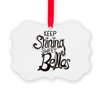Keep Shining Scroll Frame Picture Ornament