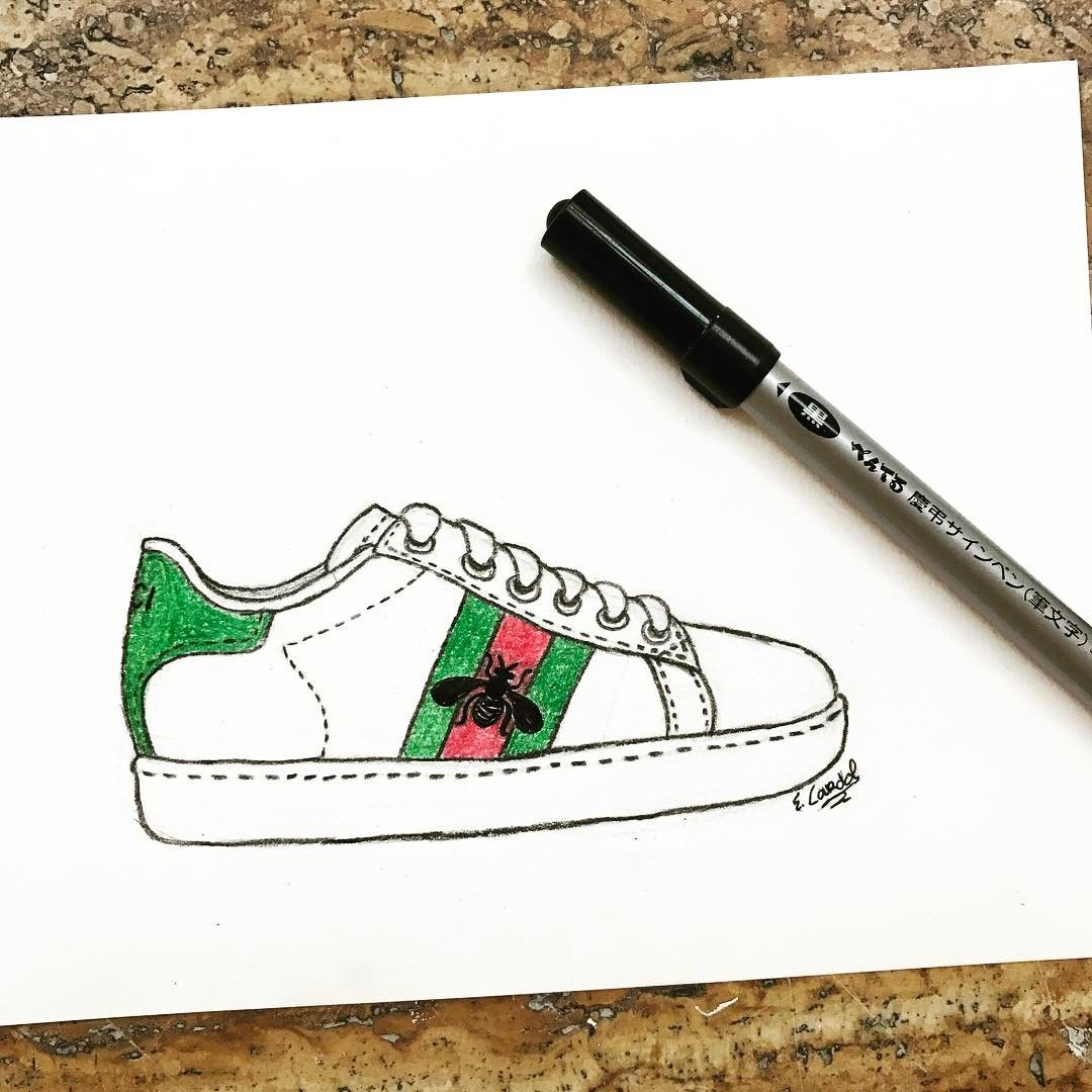 Gucci sneaker \u003c3 fashionillustration