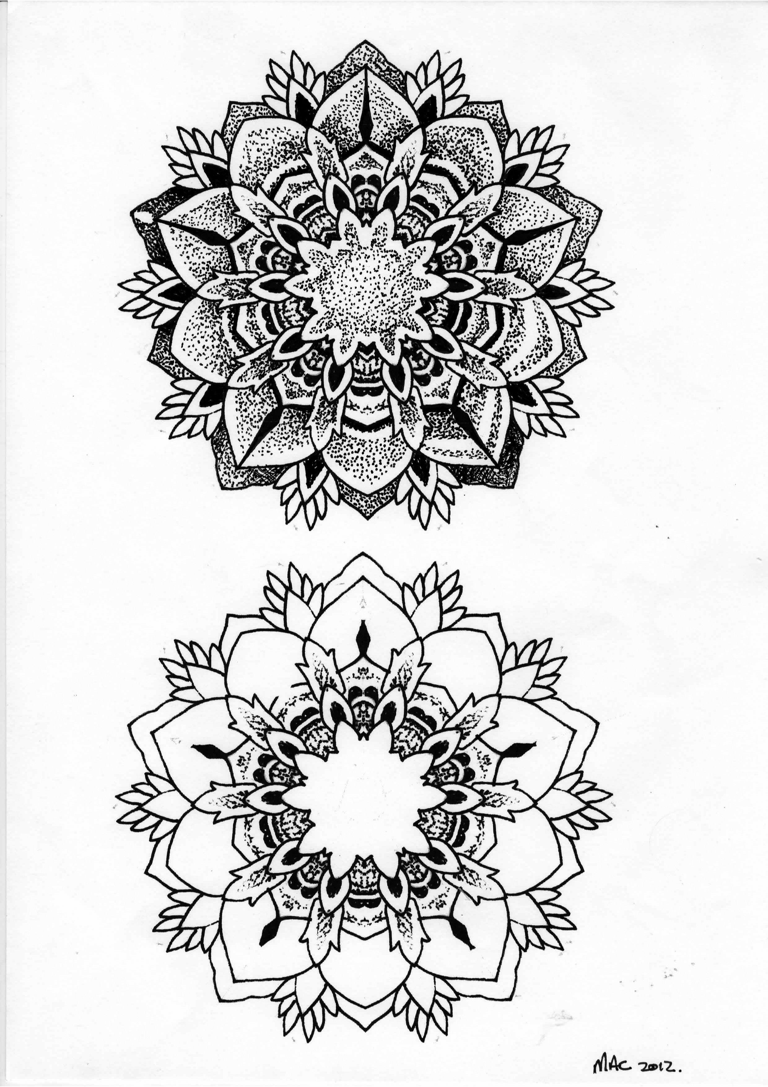 dotwork mandala my artwork tattoo designs pinterest tattoo ideen schwarzwei es muster. Black Bedroom Furniture Sets. Home Design Ideas