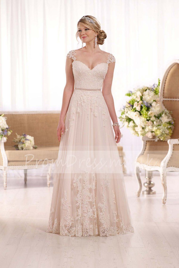 Wedding ivory dress   Off The Shoulder Tulle With Applique Sash Court Train