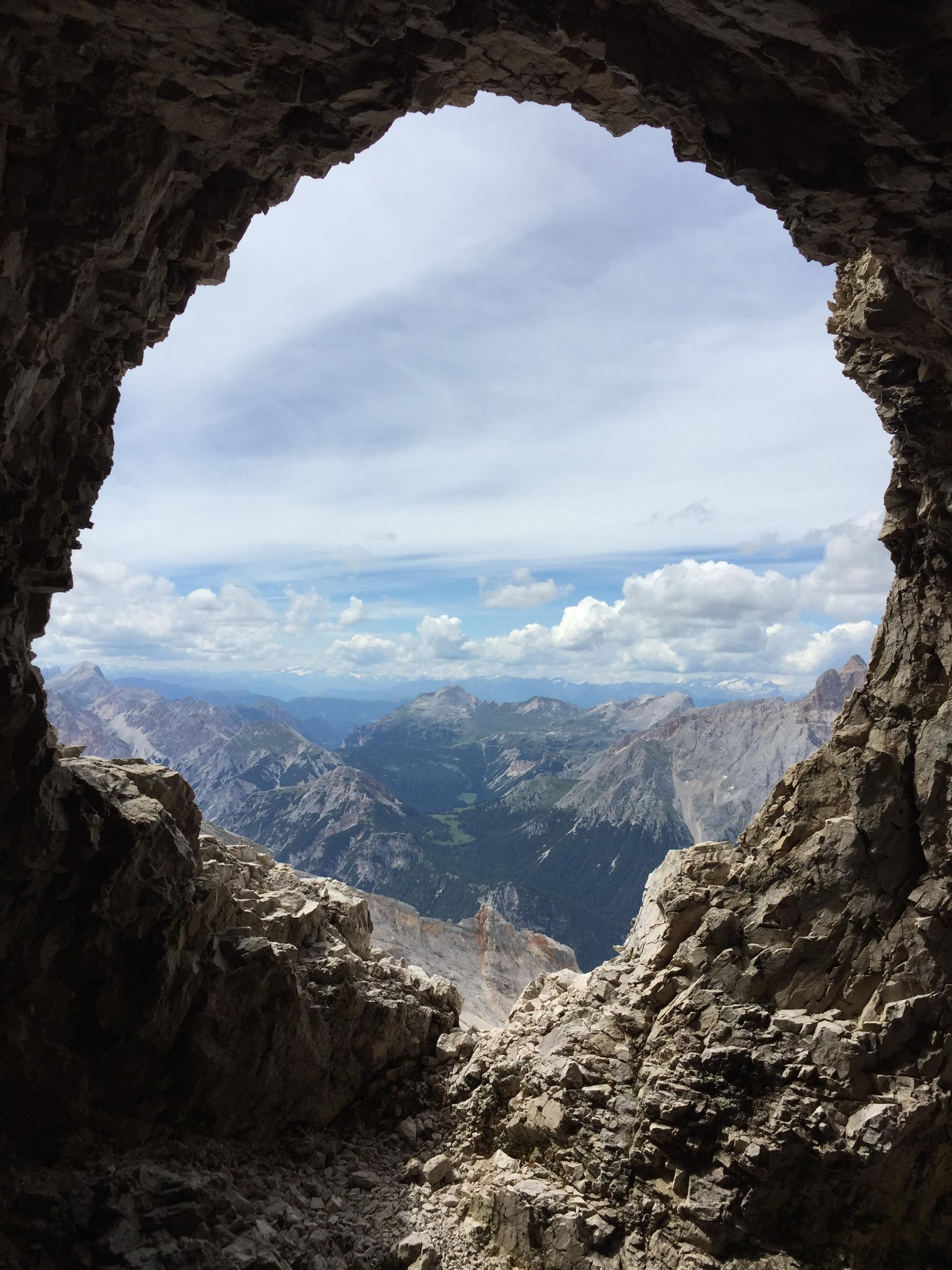 Mountain Cave In The Dolomites Cortina D Ampezzo Italy