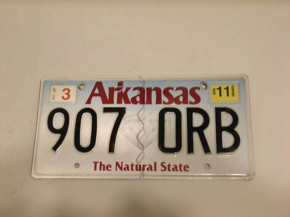 Vintage 2011 Arkansas Expired License Plate Tag 907 Orb The