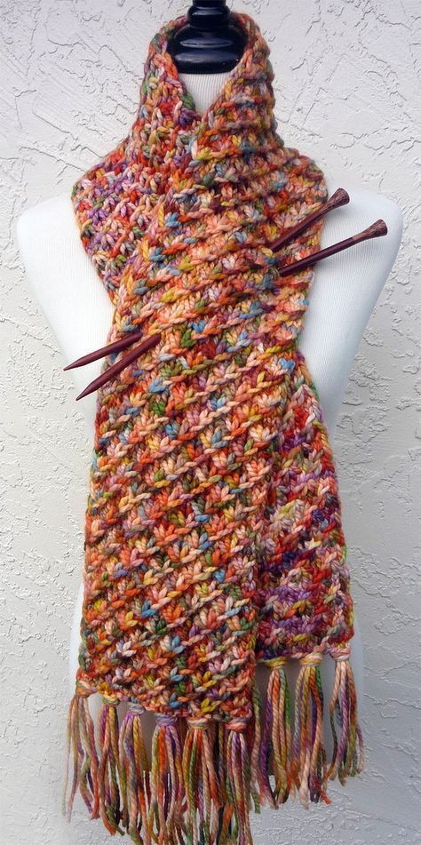 Free Knitting Pattern For Easy Star Stitch Scarf The Holding Hands