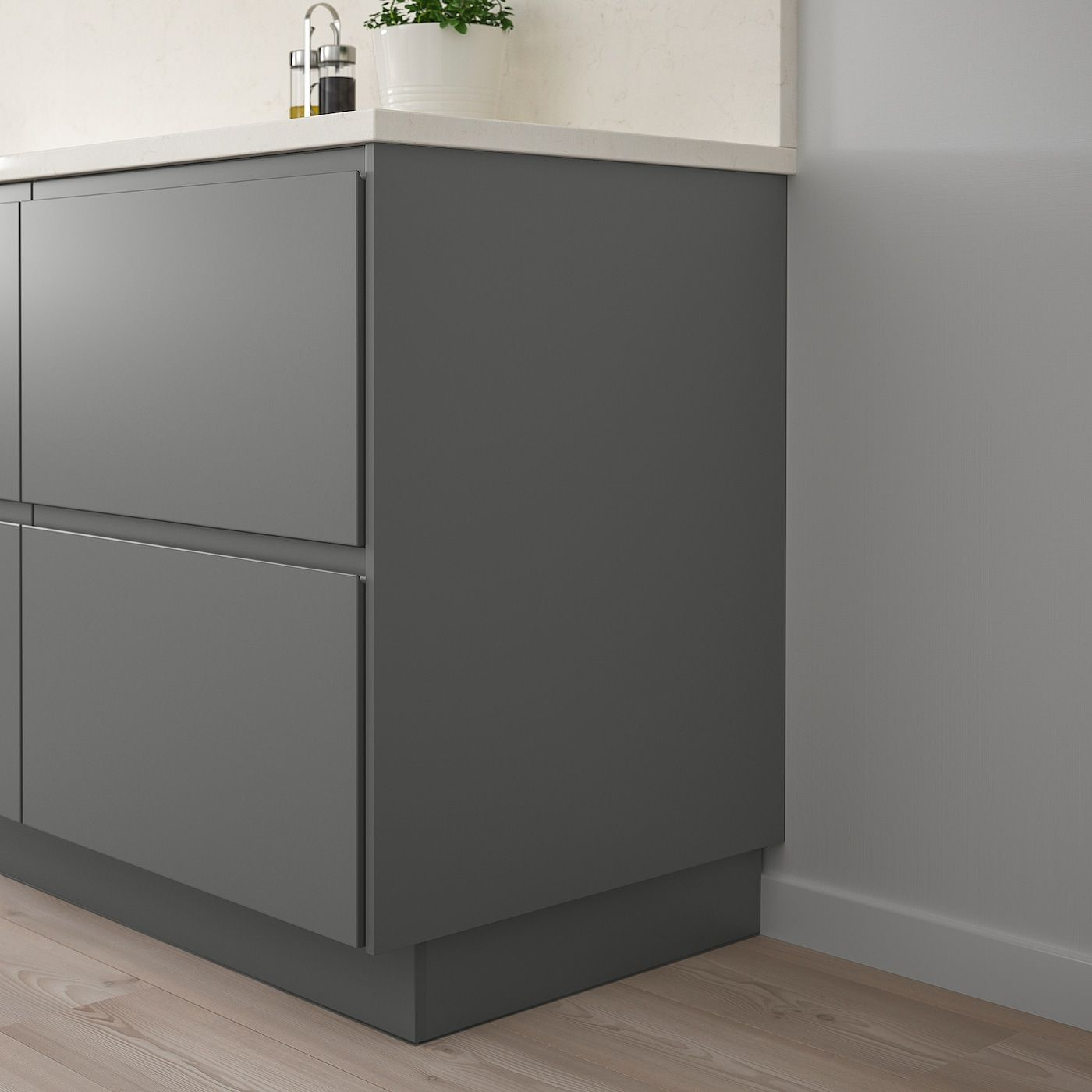 Forbattra Cover Panel Dark Gray Canada En Ikea Ikea Countertop Organization Dark Grey Kitchen