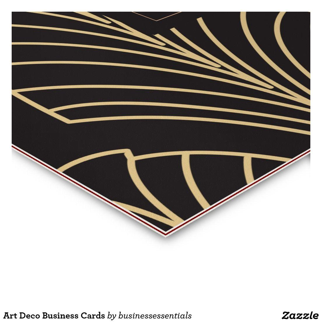 Art Deco Business Cards | BusinessCardChic | Pinterest | Business cards