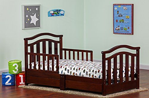 Dream On Me Elora Collection Toddler Bed With Storage Drawer From Amazon This Is The Bed Were Going T Toddler Bed With Storage Toddler Bed Bed Storage Drawers