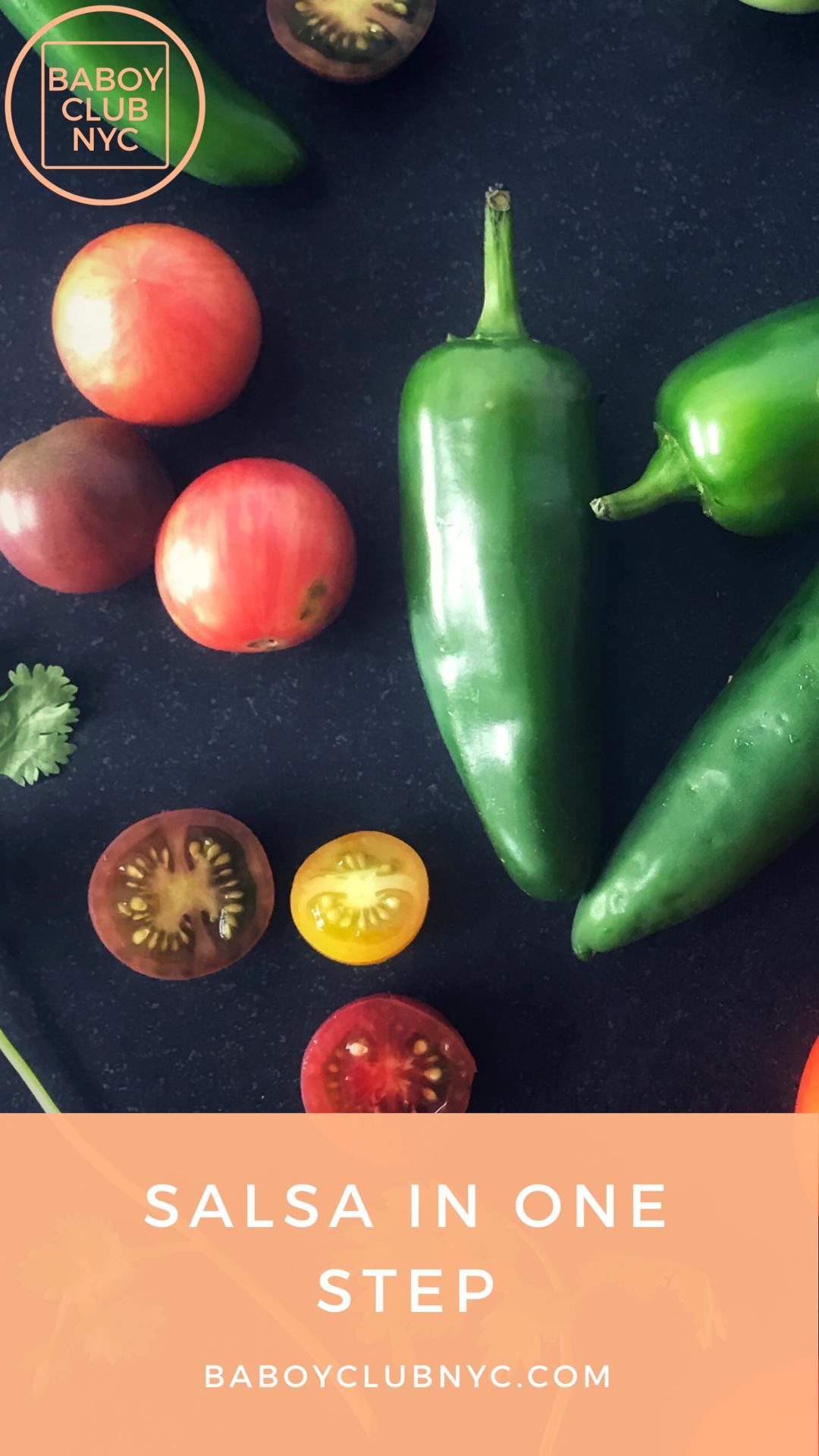 Fresh Salsa 5 Ingredients and 1 Step Easy salsa recipe