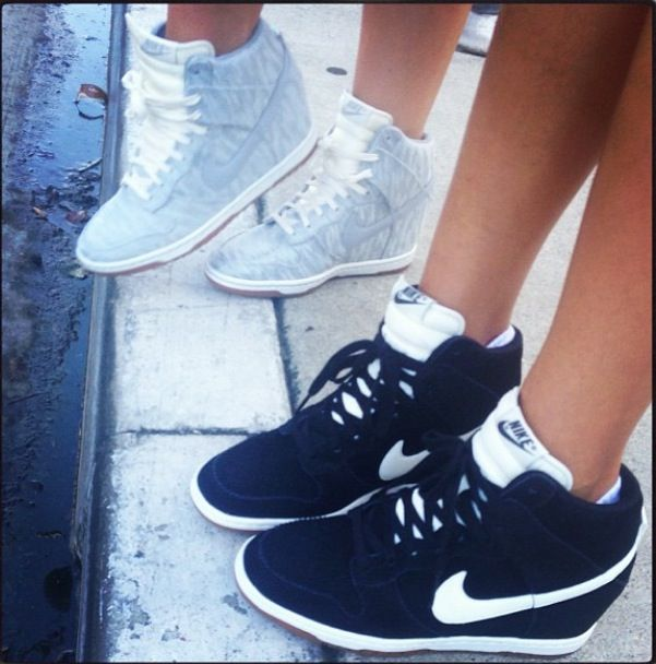 6bb9e8ef1dac1 Nike Wedge Sneakers-these wedge sneakers are making a come back   Im  thinking I like it! Love the black   white Nikes!